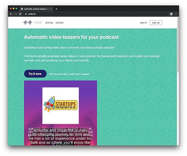 Vivid - automatic video teasers for your podcast