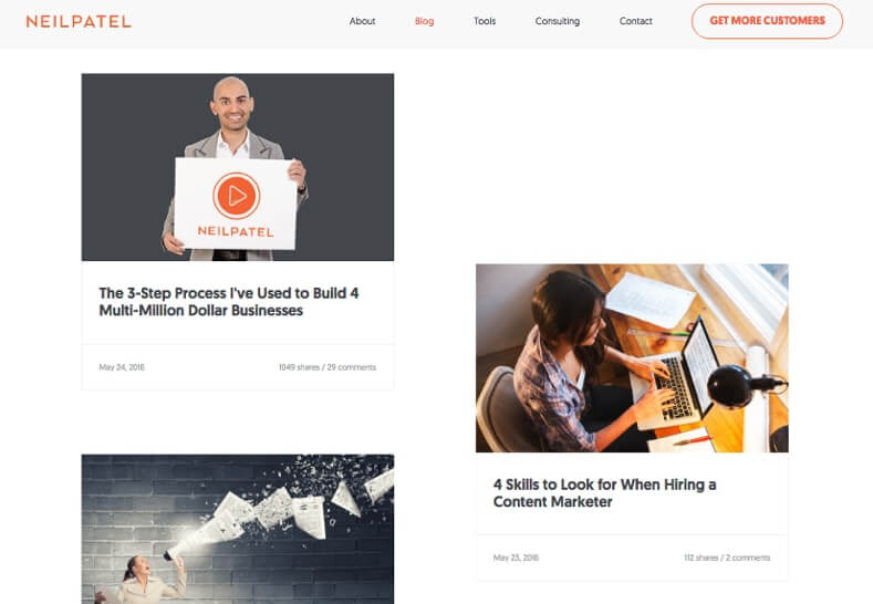 Examples of Business Blog Neil Patel