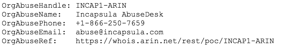 network whois abuse hotline