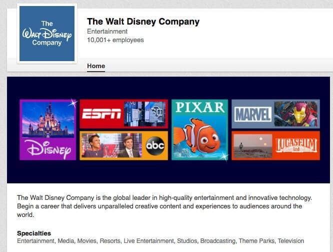 LinkedIn Company Pages The walt disney company