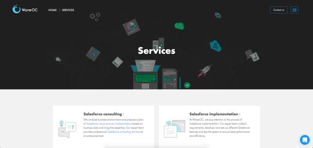 WaveOC Services Page