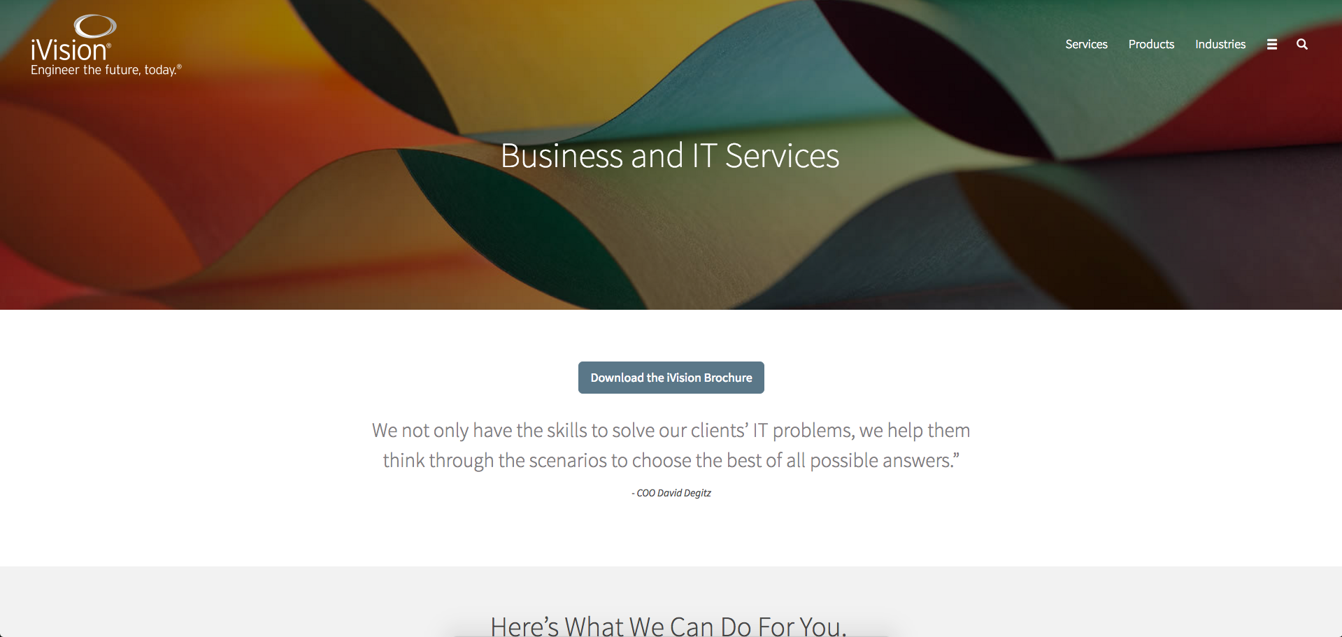 iVision Services Page