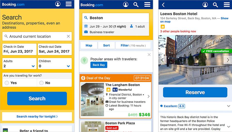 Mobile Web Design Booking.com