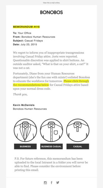 bonobos email marketing