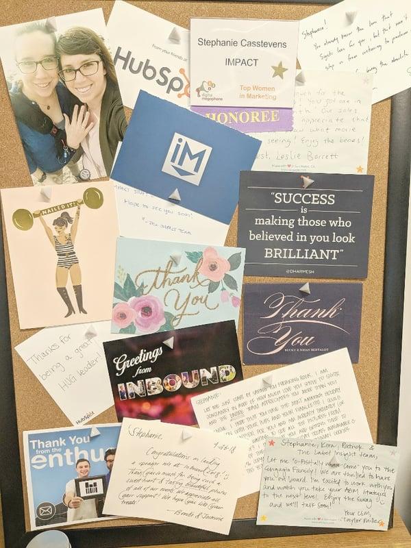 customer love letters board