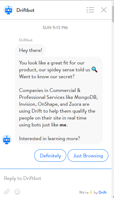 drift chatbot
