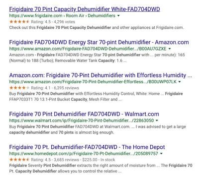 fridgeaire-dehumidifier-rating