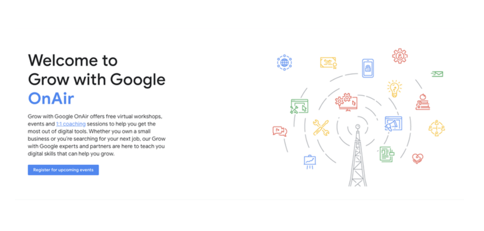 Google now offers free online events for business leaders, job seekers
