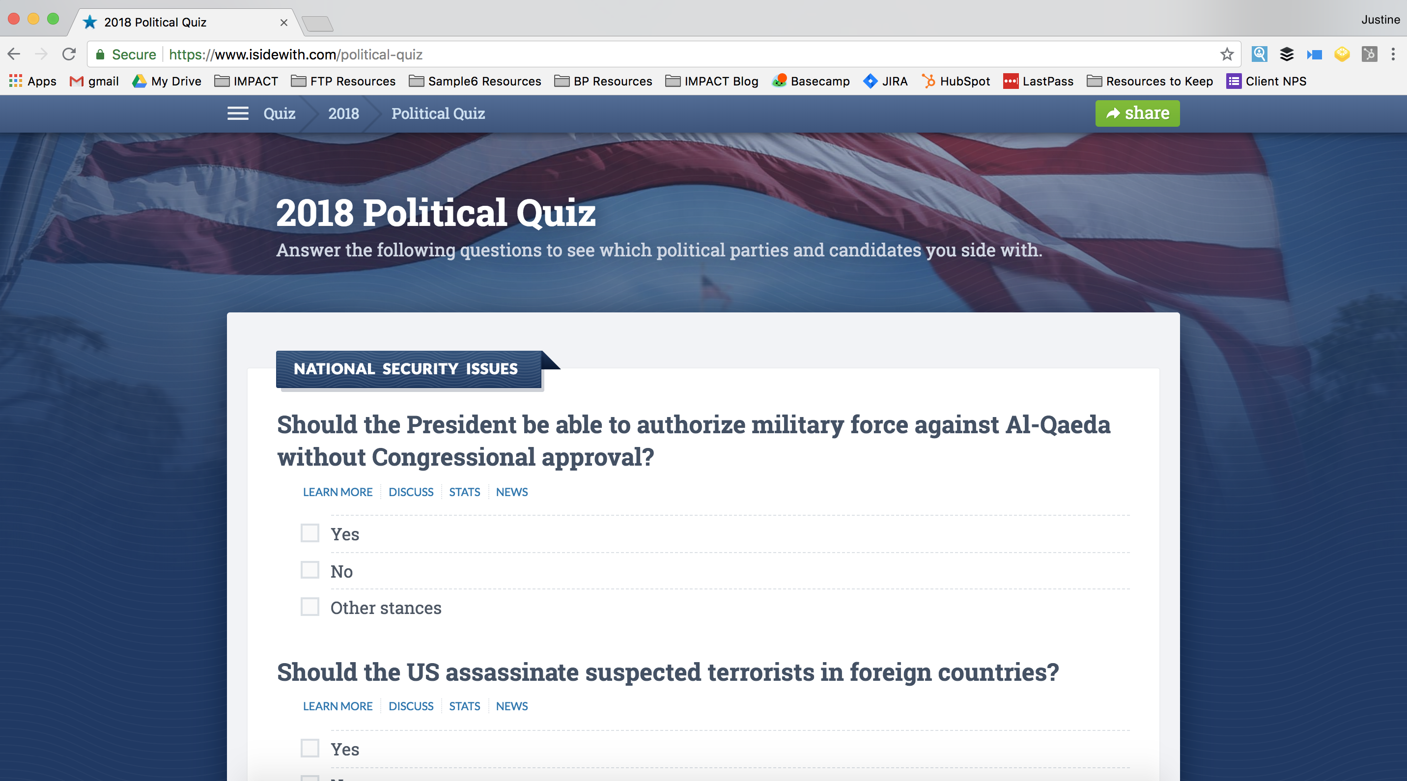 isidewith-political-quiz