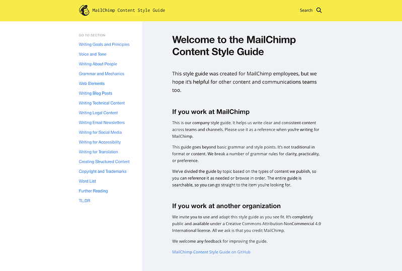 mailchimp-content-style-guide