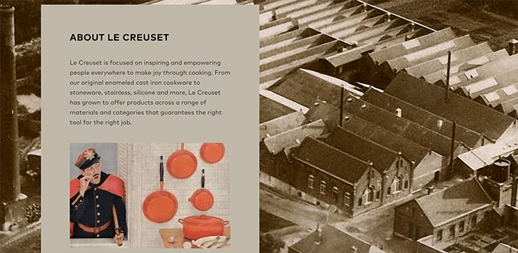 mission statement examples le creuset