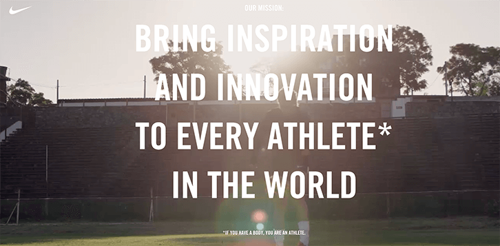 mission statement examples nike