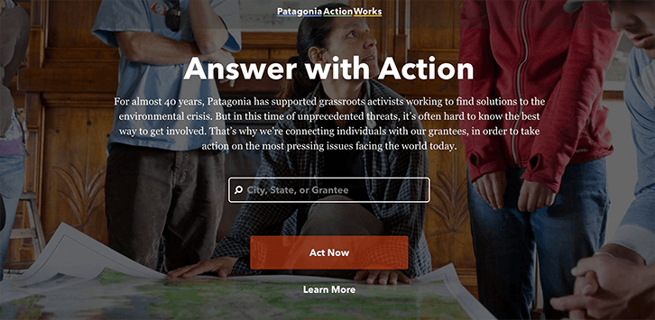 mission statement examples patagonia