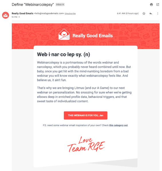really good emails | email marketing
