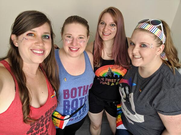 stephanie and friends at pride 2019