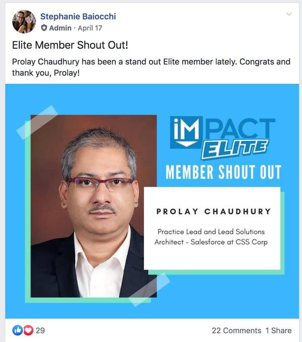 member highlight example