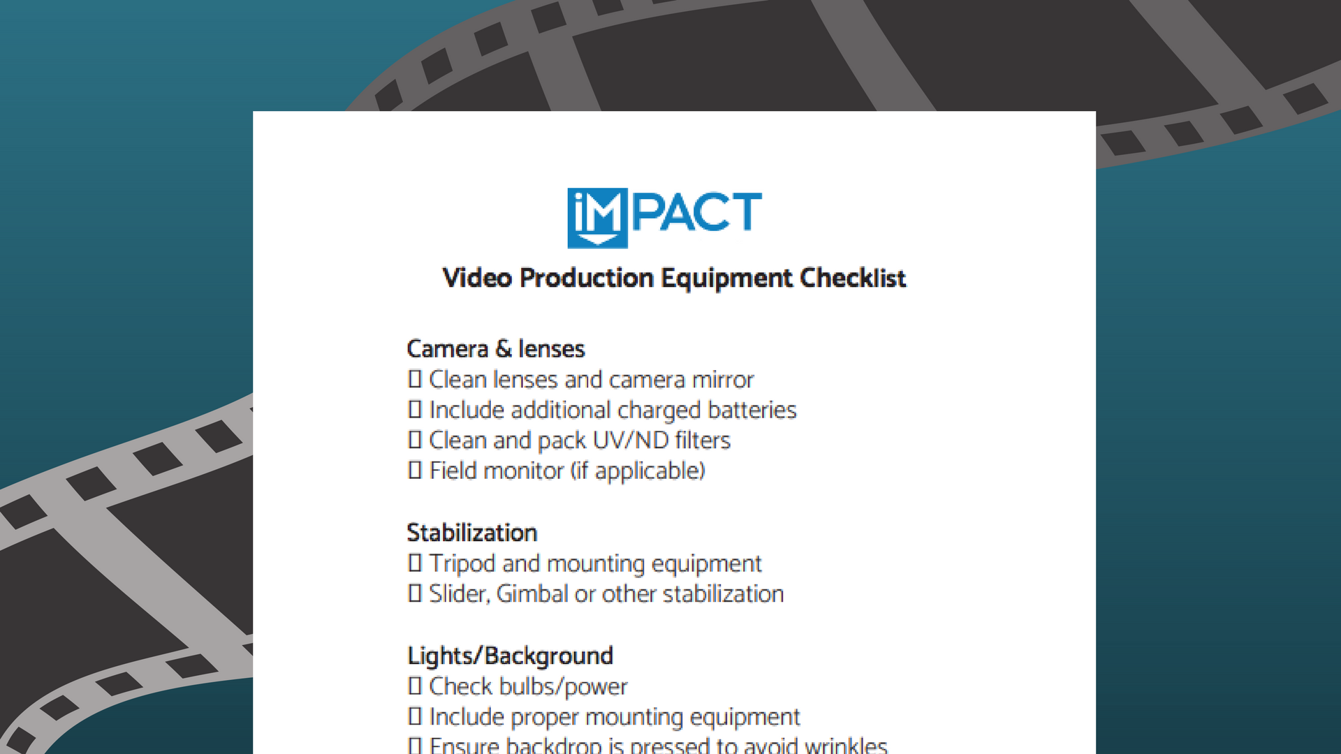 video-marketing-equipment-checklist