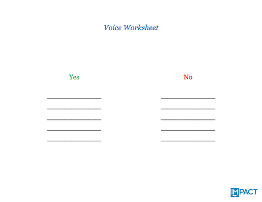 voice-worksheet