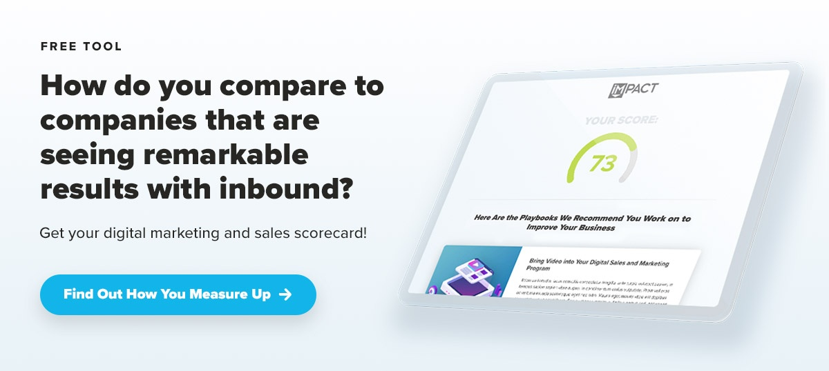 IMPACT Digital Marketing and Sales Scorecard