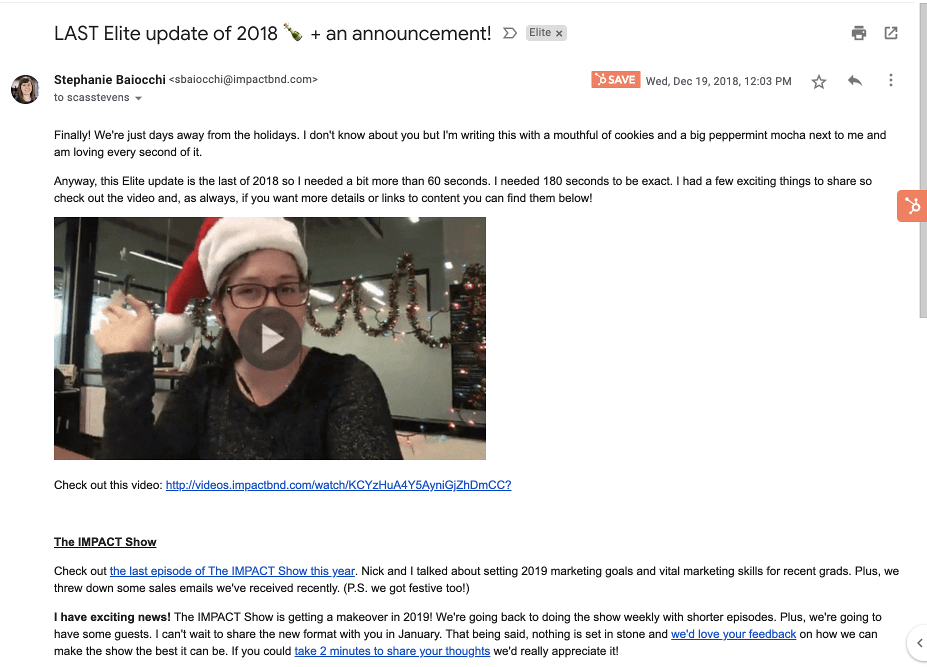 28 elite update email