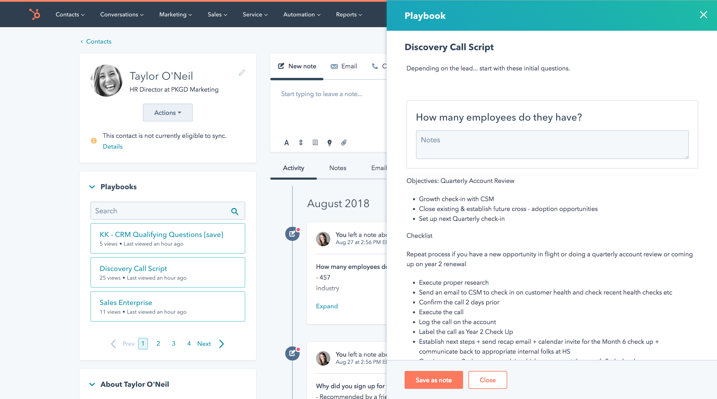 HubSpot Enterprise Playbooks
