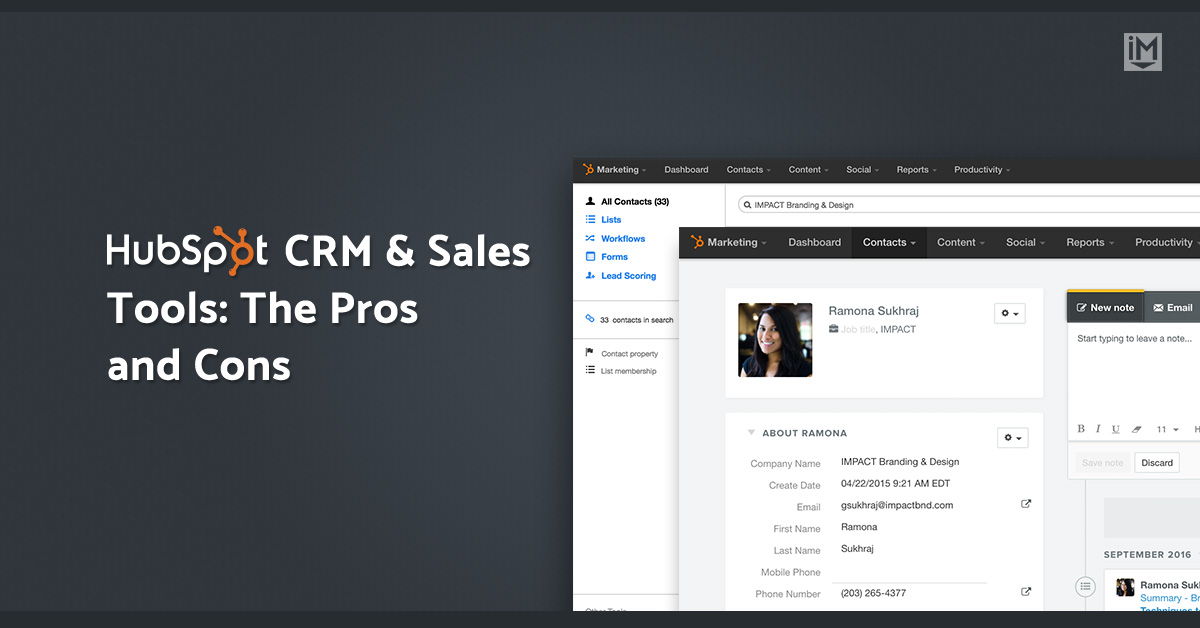HubSpot CRM & Sales Tools: The Pros and Cons