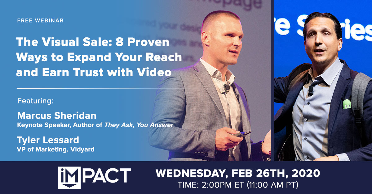 The Visual Sale: 8 Proven Ways to Expand Your Reach and Earn Trust with Video (Webinar)
