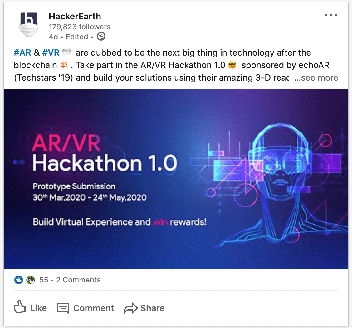 HackerEarth_LinkedIn_Post1