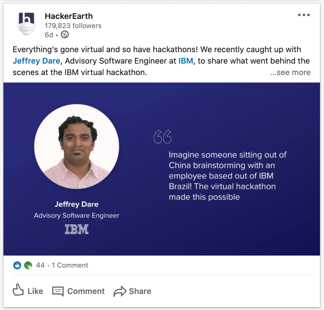 HackerEarth_LinkedIn_Post