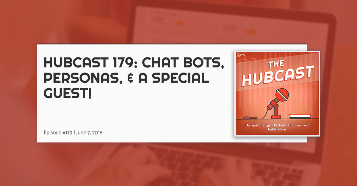 Hubcast 179: Chatbots, Personas, & A Special Guest!