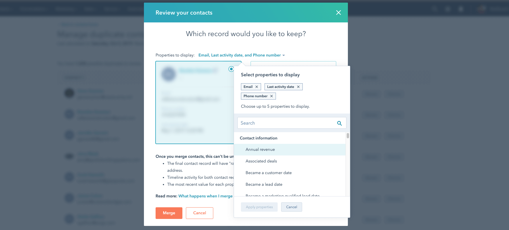 HubSpot's new duplicate management just got some improvements