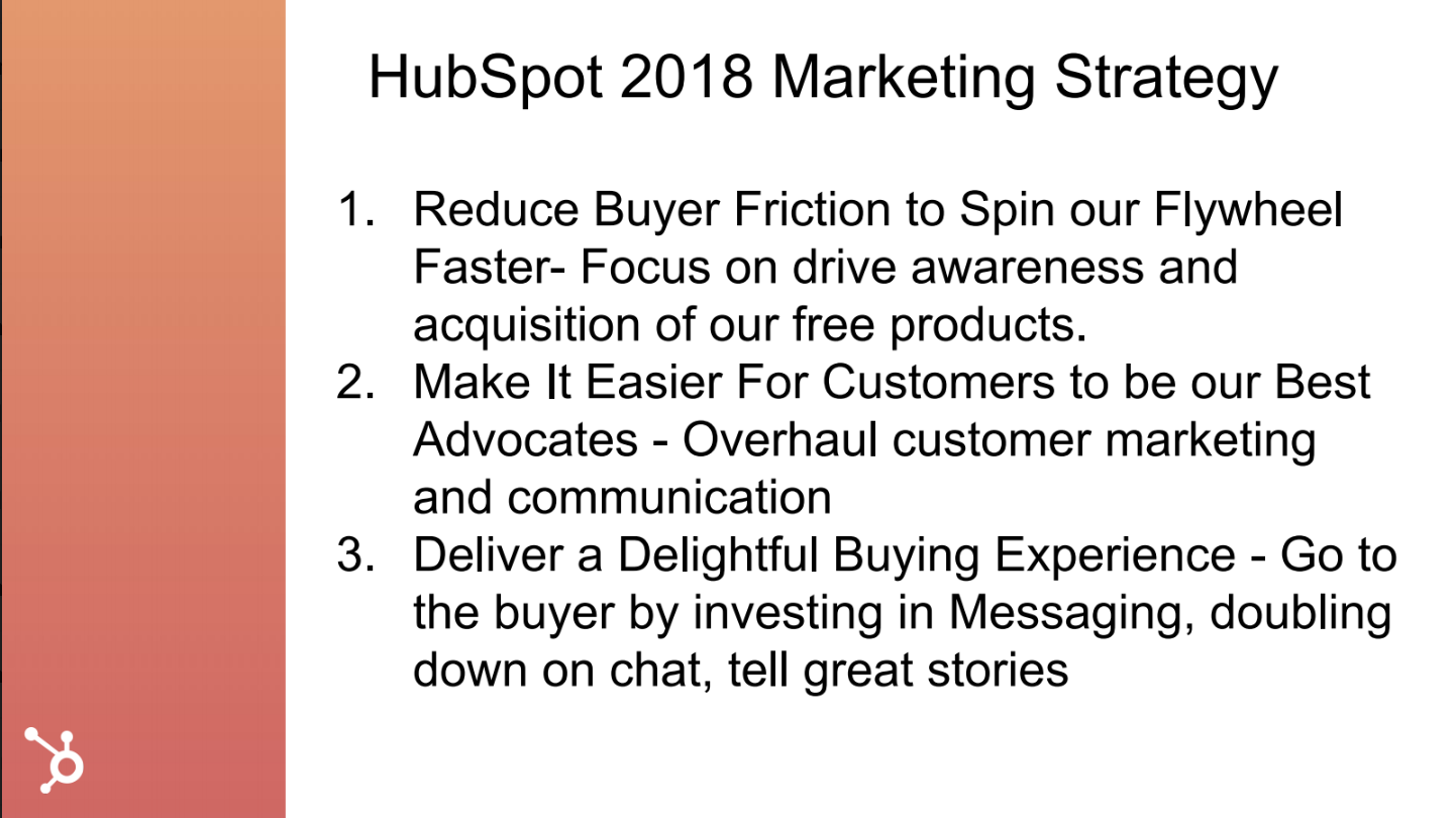 Hubspot 2018 marketing strategy