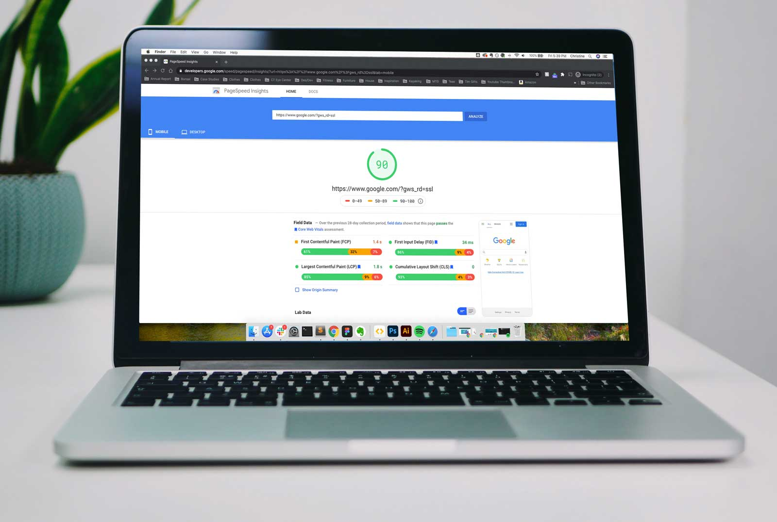 Google's Core Web Vitals becoming ranking signals in May 2021