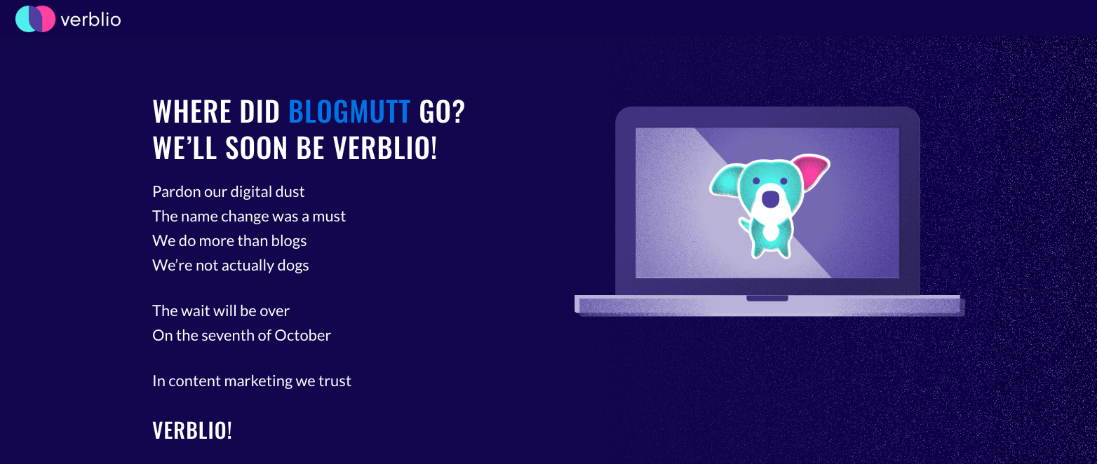 11+ Lessons Every Marketer Can Learn from Verblio's Rebrand