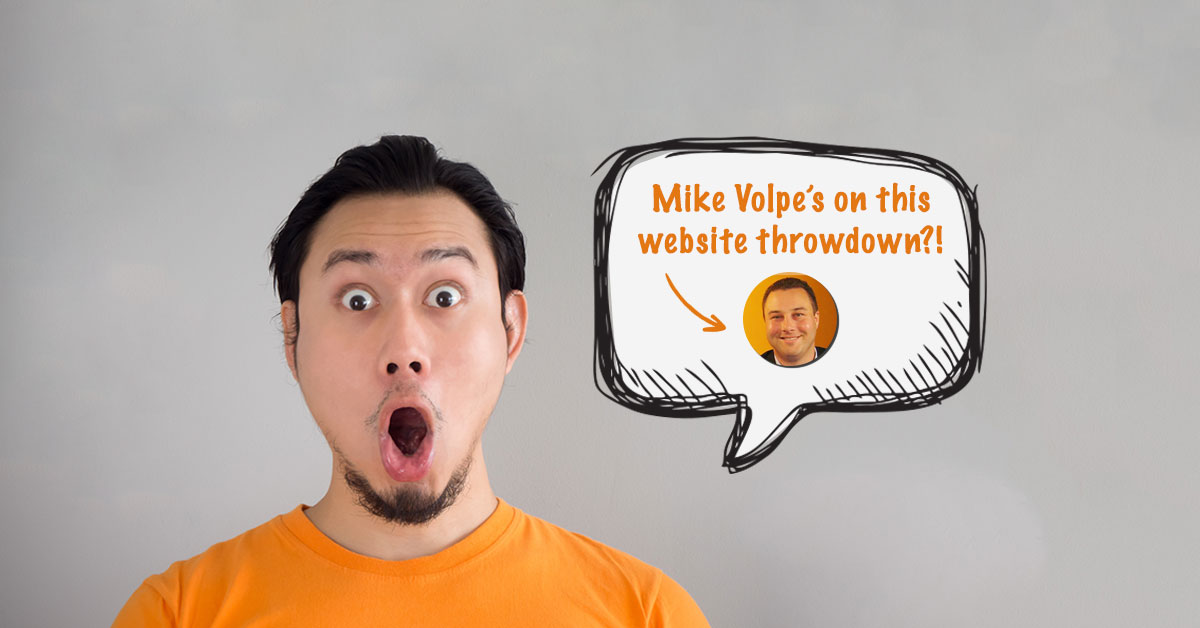 Holy Sh*t! Mike Volpe is on Website Throwdown (And He Can Critique Your Site)