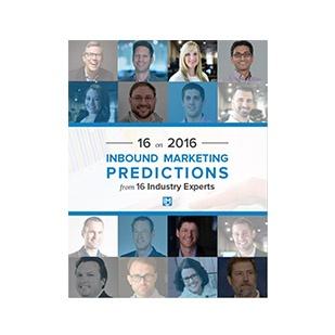 Inbound Marketing Ebook - 16 on 2016: Inbound Marketing Prediction from 16 Industry Experts