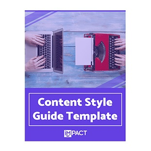 Inbound Marketing Ebook - Content Style Guide Template