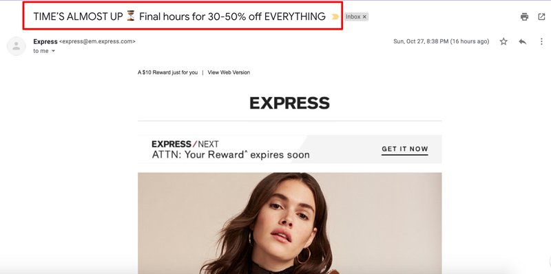email-subject-line-examples-express