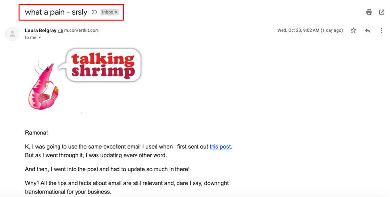 email-subject-line-examples-informality