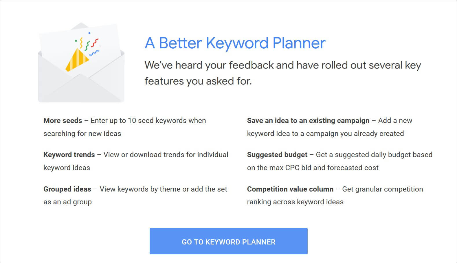 Here's What We're Getting With the Latest Google Keyword Planner Updates