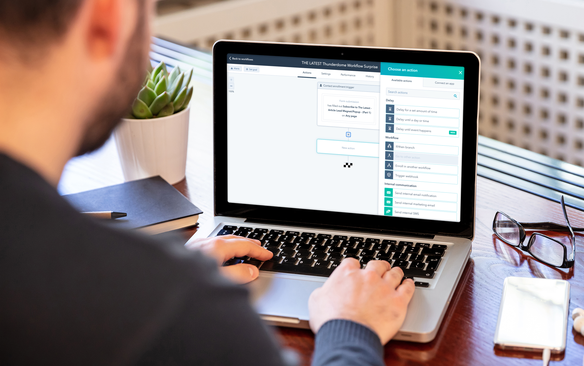 HubSpot workflows now support delayed actions by event, comments in beta