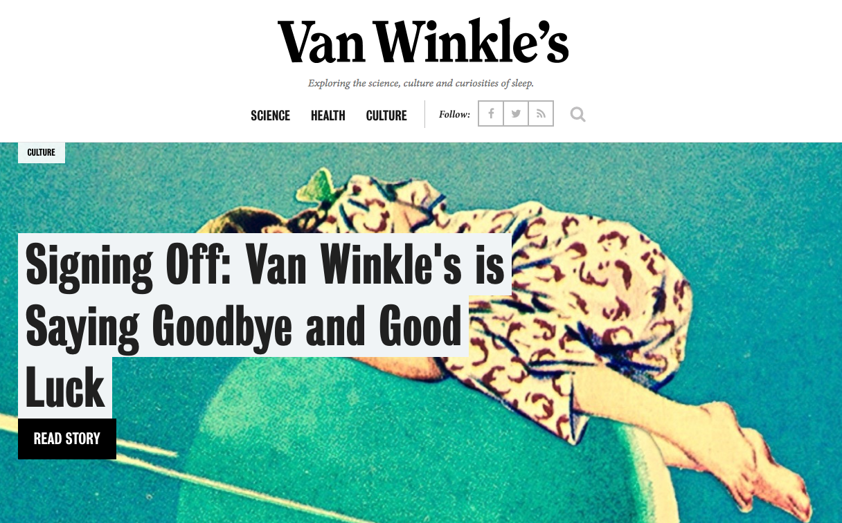 "Does Casper's Closing of ""Van Winkle's"" Publication Really Show the Limits of Brand Publishing?"
